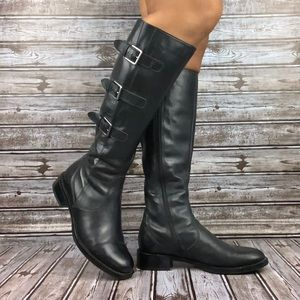 ECCO Black Leather Hobart Boots Sz 37 7